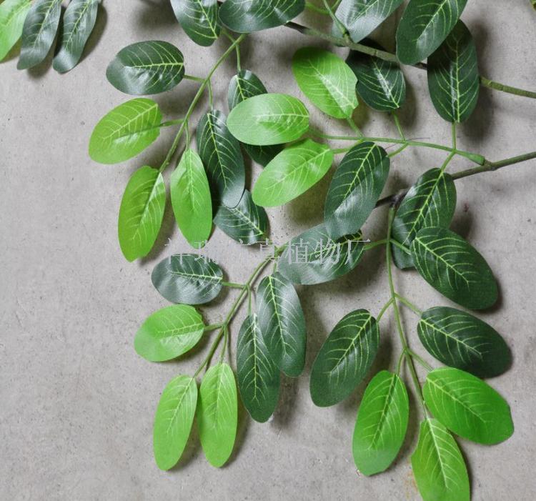 仿真植物假树叶3叉槐树叶杨树叶平安叶拍摄背景工程