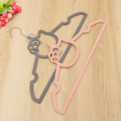 High - grade Non-slip flocking kitty cat cloths hanger  magic hanger