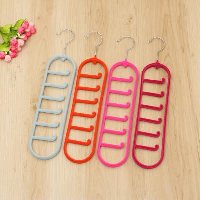 High - grade flocking Tie scarves racks magic hangers seamless hanger