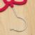 High - grade Flocking Hanger Bowknot  Hanger Anti - slip Seamless Hanger