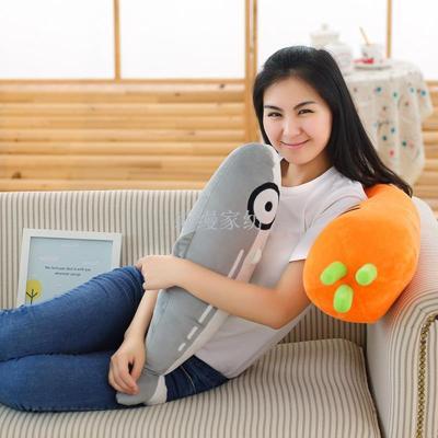 Children cartoon plush toys lengthened carrots pillow nap pants lumbar waist cushions custom