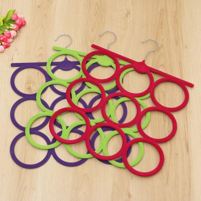 High - grade flocking racks scarves racks Tie - frame non - slip garment hanger