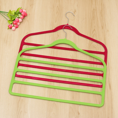 Adult trousers flocking hanger pants durable durable non - slip hanger