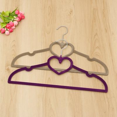 high - grade Non Slip love flocking hanger magic hanger Seamless hanger