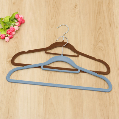 Adult hanger flocking hanger pants rack durable non - slip hatchless hanger