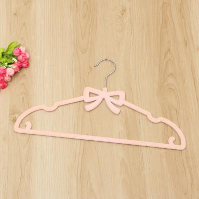 Bow staple adult high-grade flocking hanger anti-skid sunscreen waterproof sewing hanger