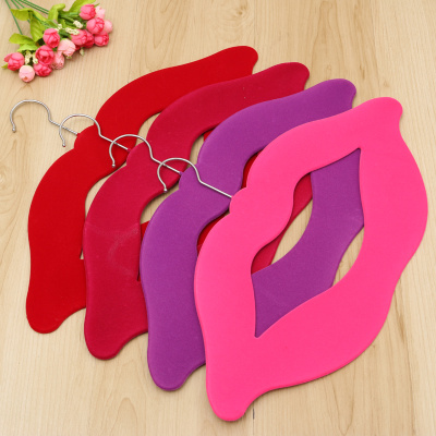Adult high-grade lips flocking hanger anti-skid durable and durable hanger magic hanger