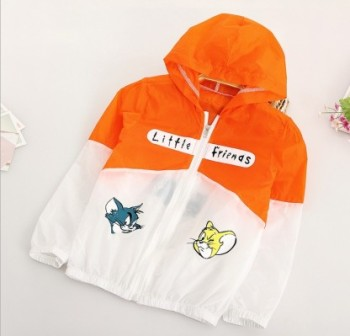 Summer new children fight color coat baby cartoon anti - UV skin clothing sun clothes