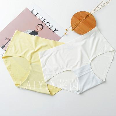 Rhine indifferent underwear ladies ice silk girls underwear in the waist sexy cotton crotch trousers one piece