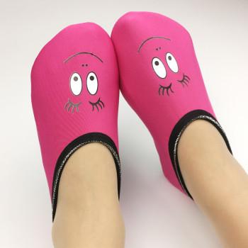 New cartoon slippery floor socks adult men and women thicken plus velvet indoor socks home early education indoor shoes