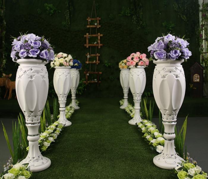 t台路引塑料花瓶罗马盆插花瓶婚礼迎宾区摆件酒店商场