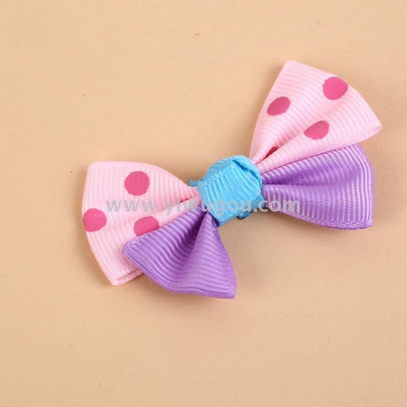 韩版公主圆点蝴蝶结甜美可爱女童发绳发圈皮筋装饰