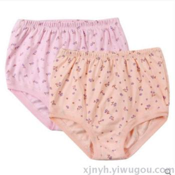 Female cotton briefs in the elderly underwear high waist to increase the code loose mother underwear old shorts