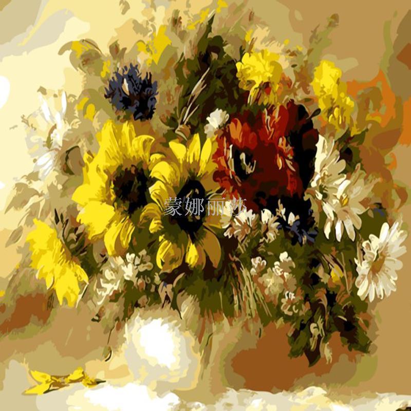 数字油画风景花卉动漫人物填色手绘欧式装饰画
