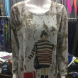 French cashmere positioning flower pattern decorative sweater plus section