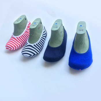 Factory direct spring and summer invisible socks children baby candy color boat socks mouth striped socks