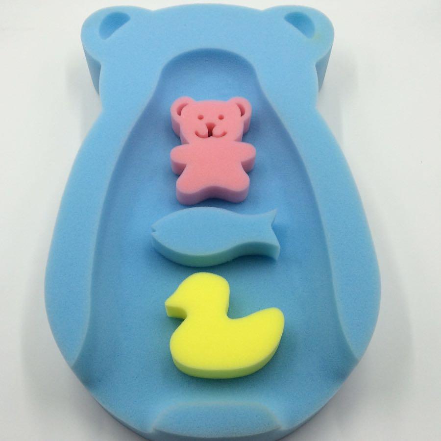 宝宝洗澡海绵垫,送海绵小动物!