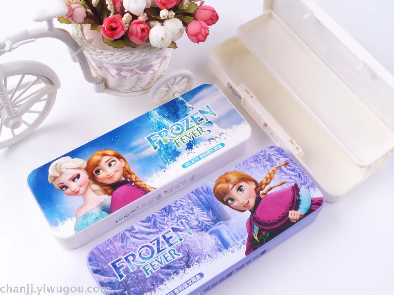 密码锁文具盒多功能塑料盒卡通新款冰雪奇缘3