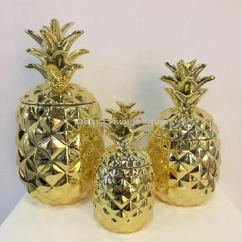 Pineapple fruit home decorations candy cans jewelry boxes ceramic crafts ornaments vases