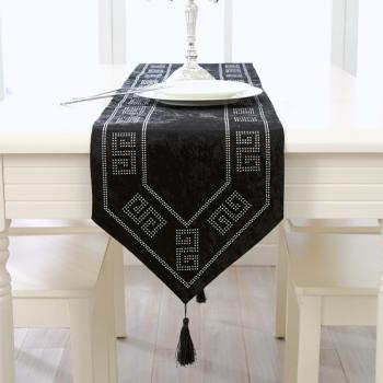 新屋新款歐式桌旗鑲鉆回型異域民族風餐桌桌旗桌布茶幾布