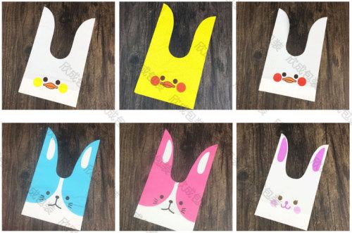 Long ears Bunny candy packaging food bags 50 Pack