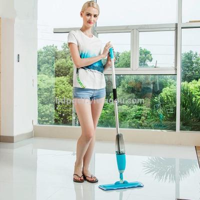 Aluminum alloy telescopic rod water spray mop wooden floor mop free spin spray mop