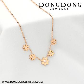 Fashion ladies flower pendant necklace