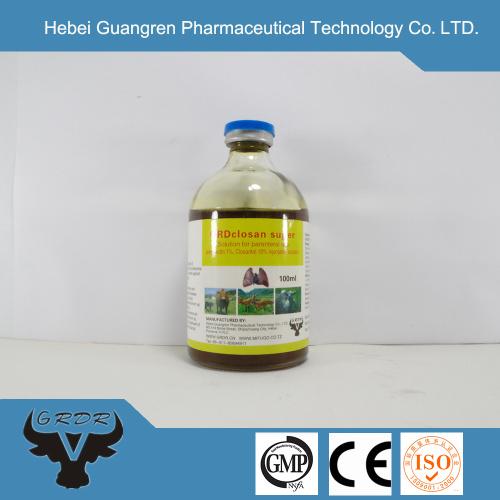 Parasite drug Ivermectin and Closantel Sodium Injection 1%+10%