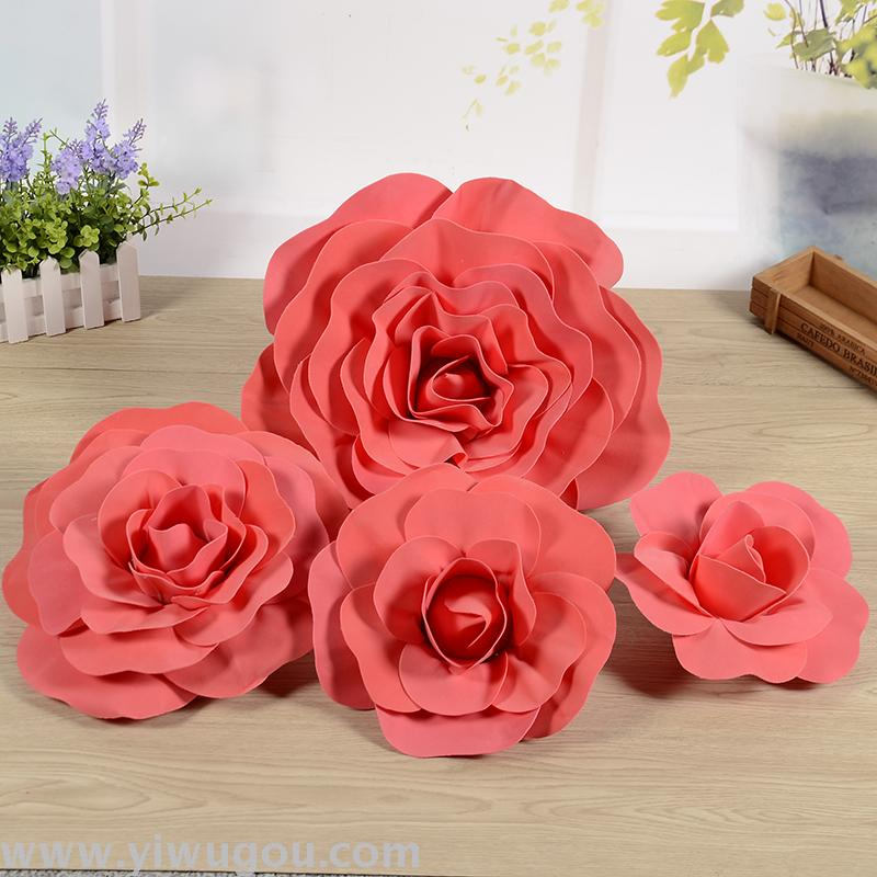 结婚泡沫婚礼背景道具大型纸花花卉道具用品花