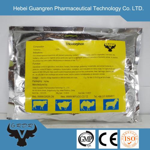 trichlorfon 97%tc 80%SP insecticide