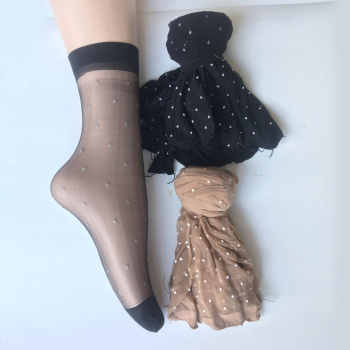 Short silk socks Ms. summer anti-hook silk thin transparent invisible crystal silk stockings summer skin color