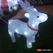 Christmas holiday festive lights 3D deer lights with bells and lanterns romantic atmosphere