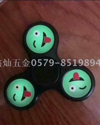 Spot new look smiley face gyro three leaf luminous decompression toy finger spiral triangular rotation