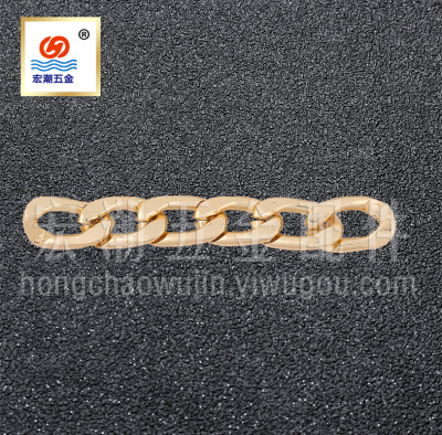 Electroplated aluminum chain metal jewelry chain luggage hardware chain models can be customized