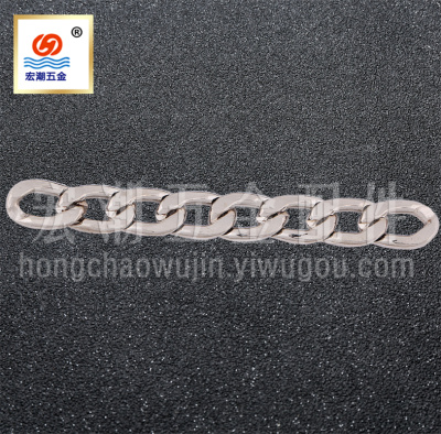 Factory production for sale sections of aluminum chain plating metal chain Korean chain jewelry aluminum chain