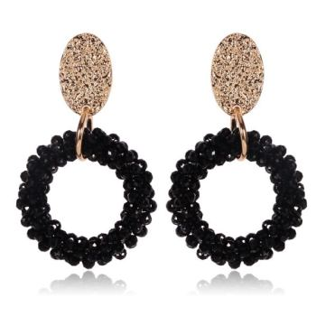 Crystal earrings Europe and the United States exaggerated earrings ear hanging factory direct
