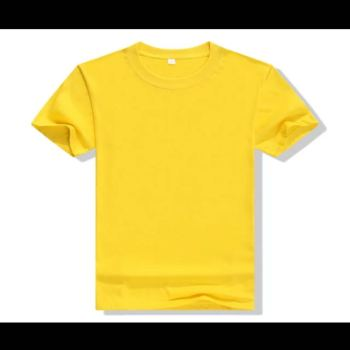 Summer t-shirt solid color short-sleeved ladies summer men's T-shirt can be printed LOGO