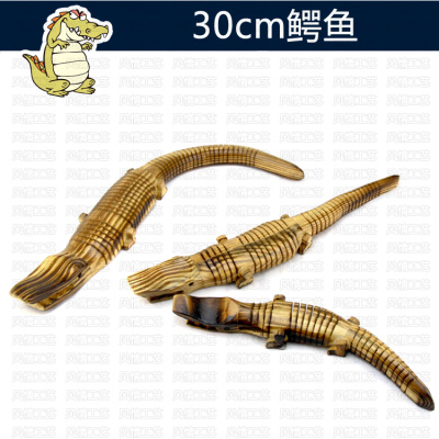 Factory direct sales of wooden crocodile toys simulation crocodile model environmental simulation animal toys wholesale