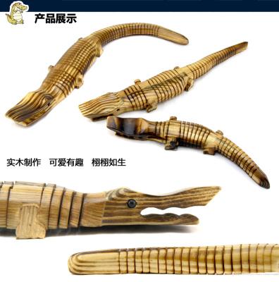 Factory direct sales of wooden crocodile toys simulation crocodile model environmental simulation animal toys wholesale