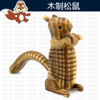 Wholesale hot simulation wooden squirrel wooden toy model wooden creative children 's toys 10 yuan shop