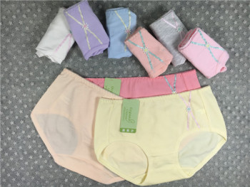 Girls organic cotton simple fashion briefs pants underwear factory direct mail