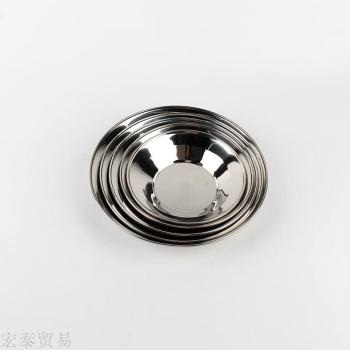 Stainless steel dish dish disc dish disc stainless steel multi - purpose dish wide - edged round dish