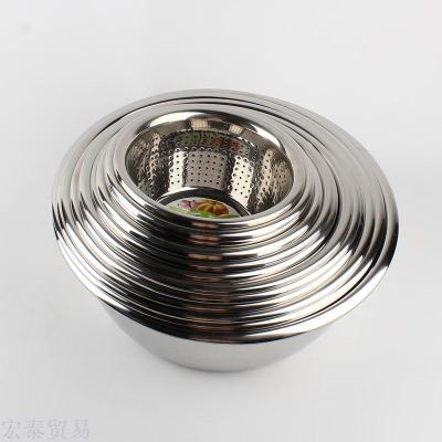 Stainless steel vegetables pots with rice sieve 1.5 mind arc anti-edge fruit sieve fruit and vegetable sieve