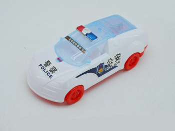 Children 's milk gifts gifts toys wholesale cable with light police car sports car model