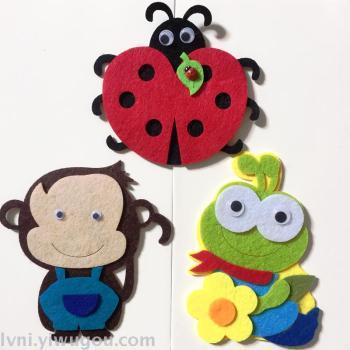 Non - woven kindergarten kindergarten decorated ladybug monkey frog