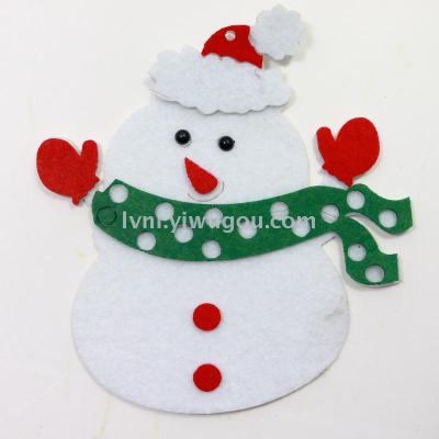 Non - woven Christmas snowman jewelry crafts accessories
