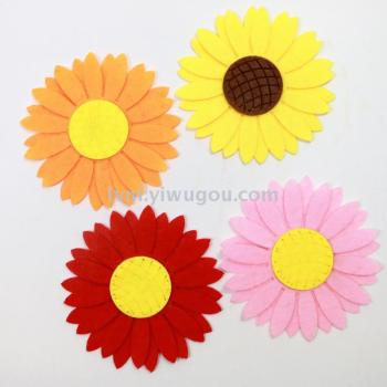 Non - woven double - layer sunflower sunflower jewelry crafts early childhood care accessories