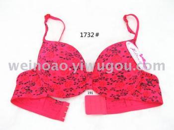 New flowers printed bra underwear style spot