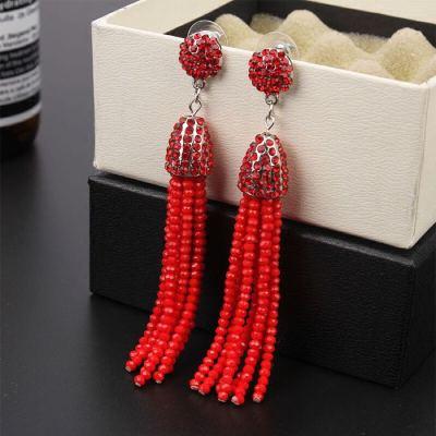 Crystal Earrings Fashion Jewelry Long Crystal Tassel Earrings
