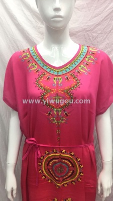 Selling hot Southeast Asia and Europe and the United States. People cotton dress
